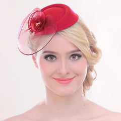 Fascinator Hat Flower Mesh Ribbons Headband Tea Party Headwear for Women