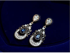 Luxury Palace Crystal Drop Dangle Earrings