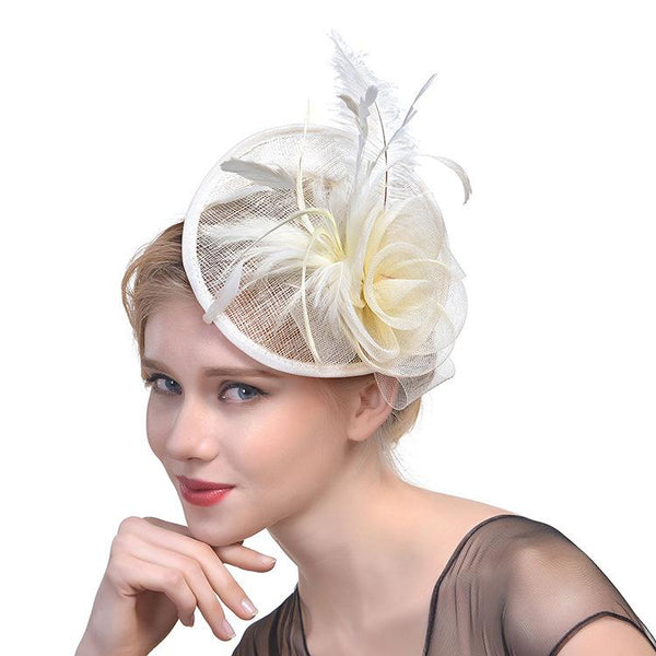 Derby Hat Womens Cream Fascinator Wedding Fascinators for Women