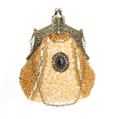 Women's Vintage Hand-beading Sequins Clutch Evening Bag