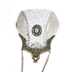 Women's Vintage Hand-beading Sequins Clutch Evening Bag|JaosWish
