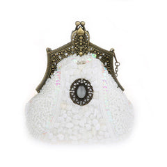 Women's Antique Beaded Party Clutch Vintage Purse