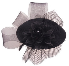 Fascinators Mesh Flower Accessories Tea Party Feather Headwear
