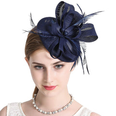 Fascinator Pillbox Hat Headband Hair Clip For Cocktail Tea Party