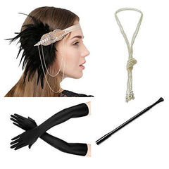 Flapper 1920s Gatsby Accessories Set of 4