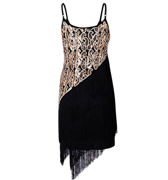 Great Gatsby Style 1920s Fringe Dress Sequined Flapper Girl Costume