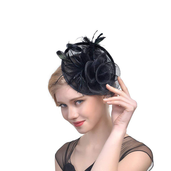 Black Fascinator Derby Hat Wedding Hats
