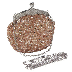 Women' Sequins Handmade Beaded Handbag Clutch Wedding Bridal