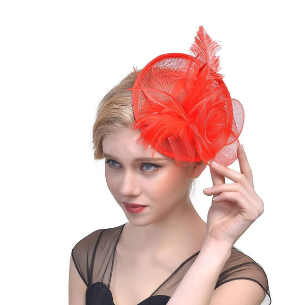 Red Fascinator Hair Fascinators for Weddings Derby Hat