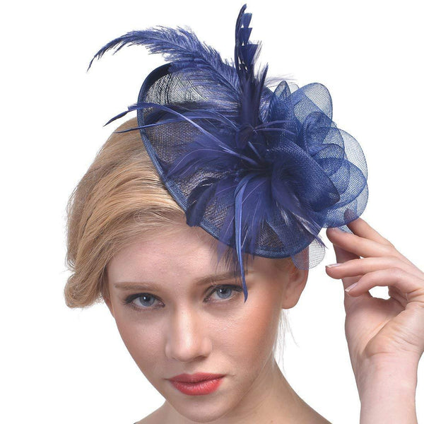 Navy Fascinator Wedding Hats Church hats