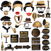 42PCS Roaring 1920's Party Photo Booth Props
