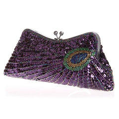 Women's Evening Sequined 1920s Handbag Peacock