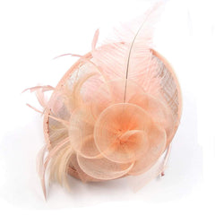 Champagne Fascinator Womens Tea Party Hat Wedding Fascinators
