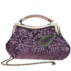 Women's Vintage Handbag Beaded Sequin Clutch Purse