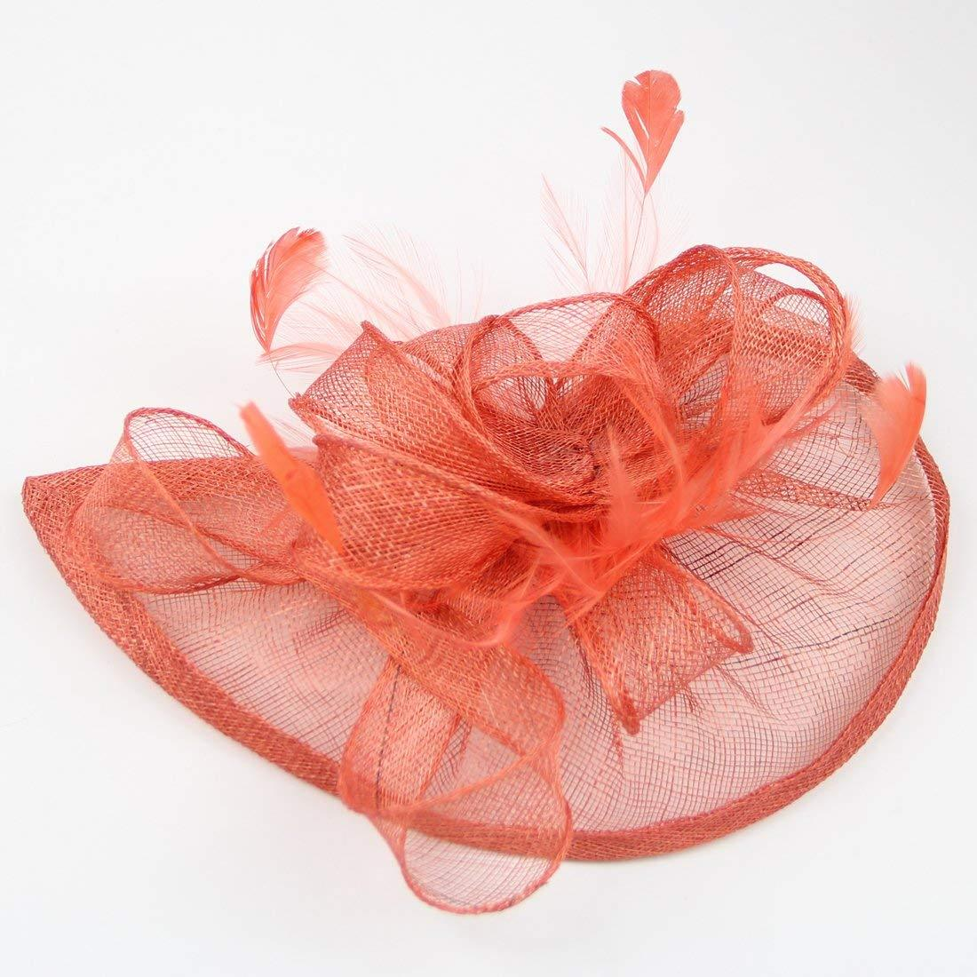 Women Occasion Hats Coral Fascinator Wedding Fascinators