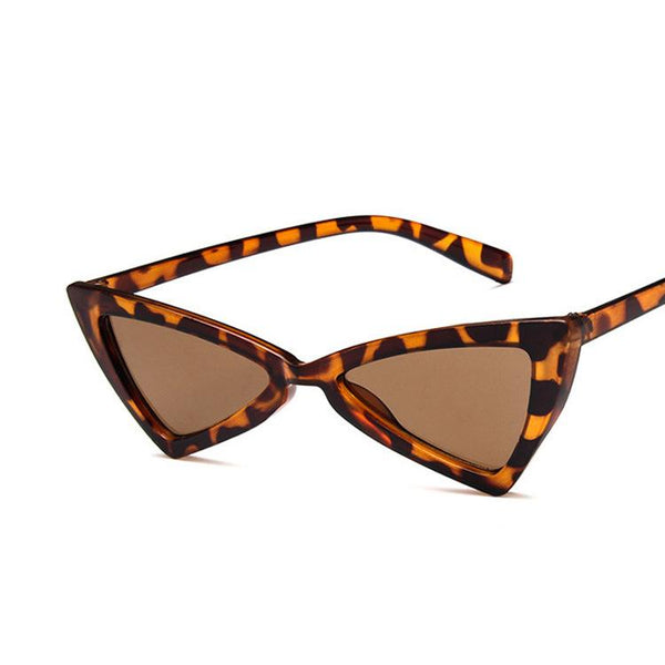 Small Cateye Sunglasses for Women High Pointed Triangle Glasses