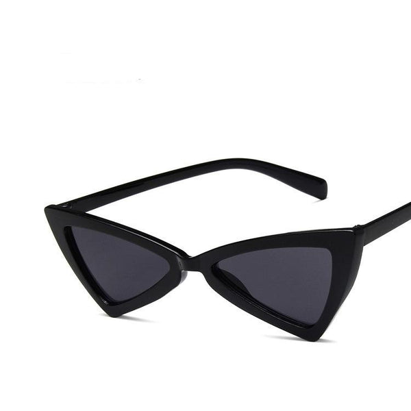 Small Retro Pointed Vintage Frame Tinted Cat Eye Pointy Sunglasses