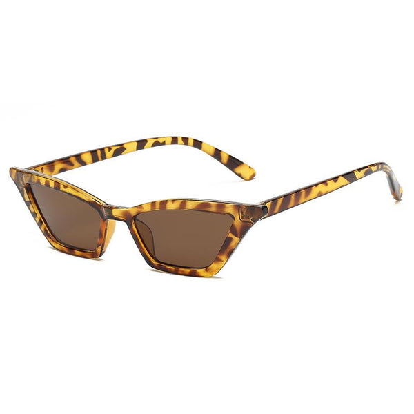 Retro Vintage Narrow Cat Eye Sunglasses for Women