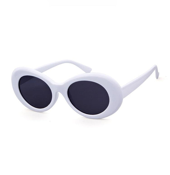 Oval Bold Vintage Sunglasses For Women Men Clout Goggle Sunglasses