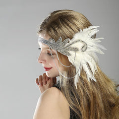 Flapper Headband 20s Accessories Crystal Beaded Gatsby Headpiece