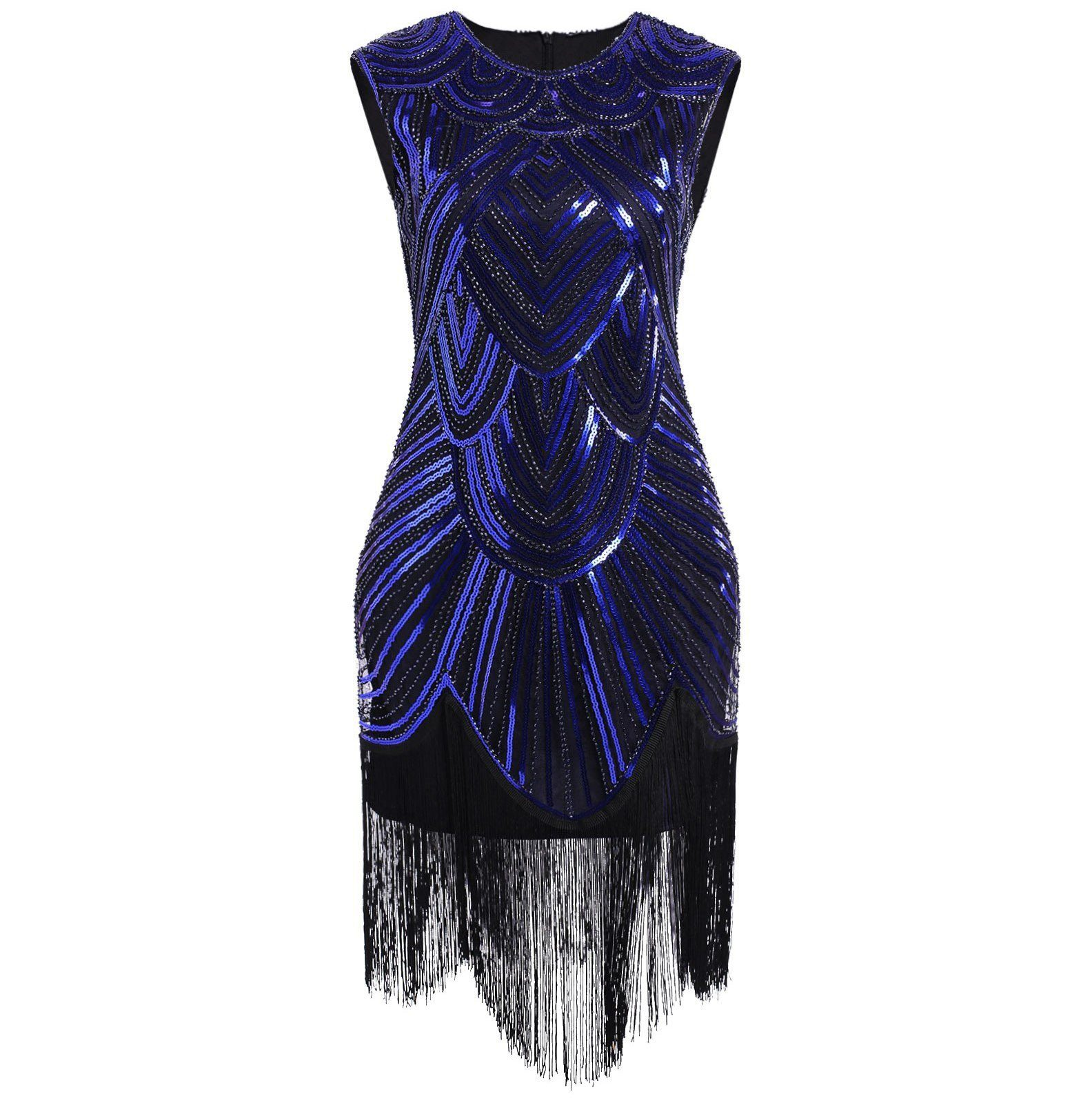 1920s Flapper Dress Fringed Sequin Roaring 20s Fancy Costume