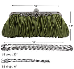 Silk Cocktail Evening Handbags/ Clutches Purse |JaosWish