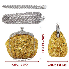 Fully Sequined Mesh Beaded Antique Style Evening Formal Clutch Purse|JaosWish