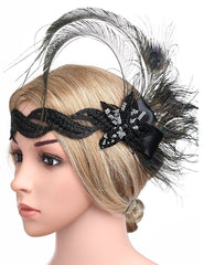 1920s Flapper Hair Accessories Great Gatsby Headpiece