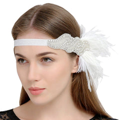 Feather Hairband 1920s Flapper Headpiece Great Gatsby