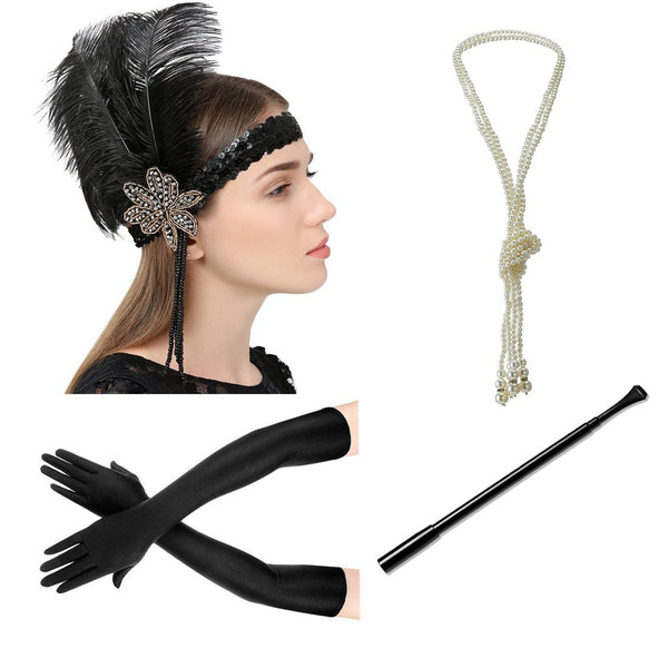 Flapper Accessories 1920s Great Gatsby Headpiece