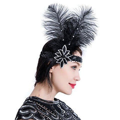 Great Gatsby 1920s Flapper Headband Vintage Headpiece Accessories