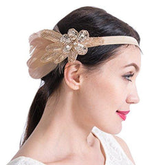 Great Gatsby 1920s Headband Vintage Headpiece Accessories