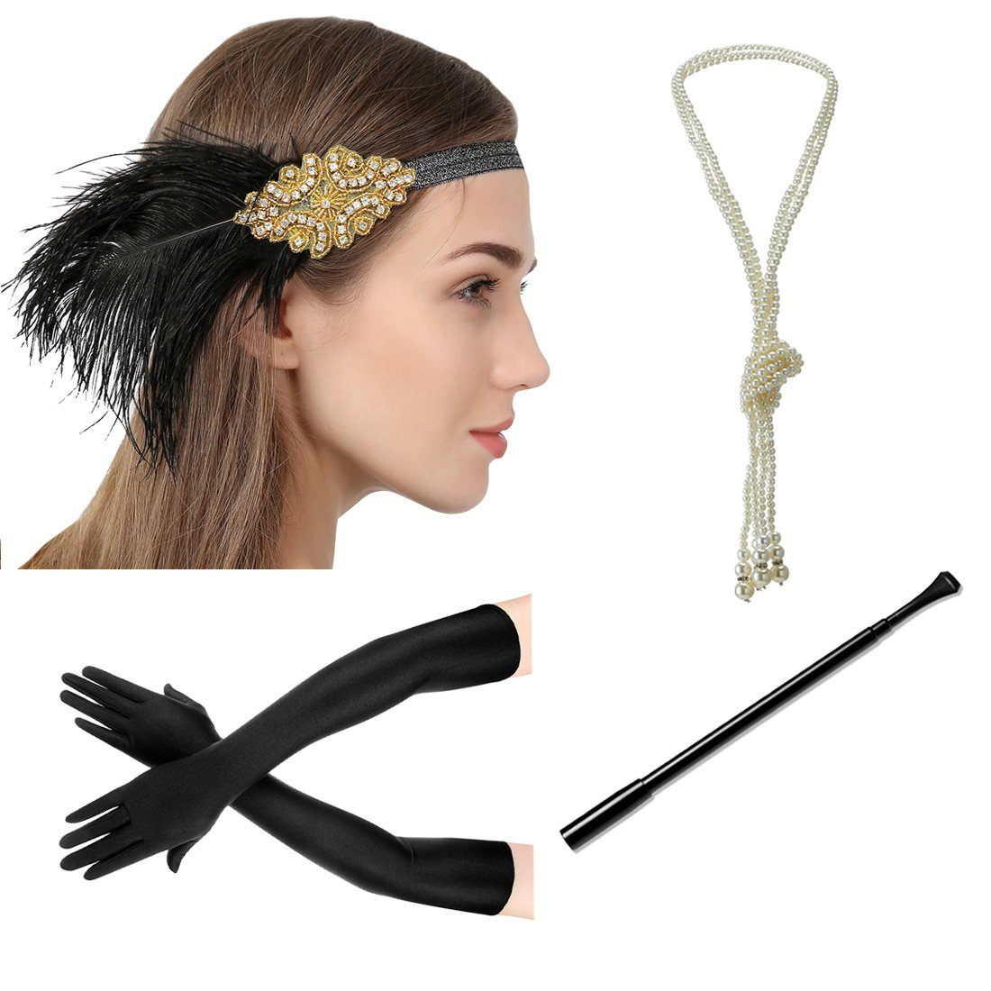 Great Gatsby Accessories 1920 Headpiece Roaring 20s