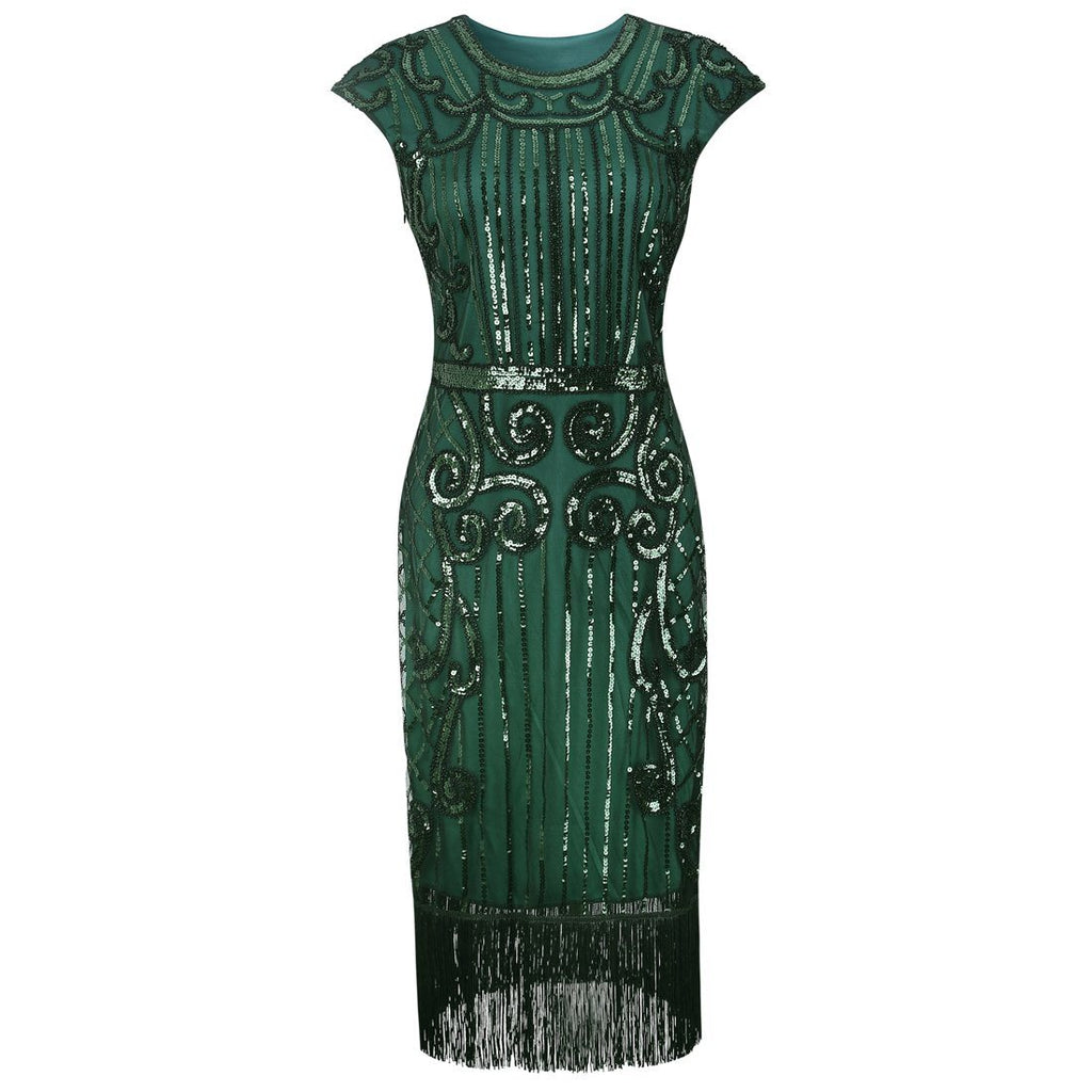 Green Gatsby Dress Downton Abbey Speakeasy Charleston 1920\'s Party ...