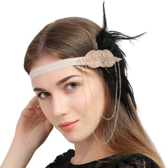 Great Gatsby Flapper Fascinator Headbands Tassels 1920S