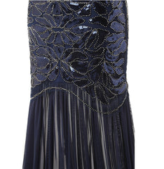 1920s Flapper Great Gatsby Long Vintage Dresses