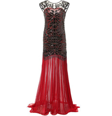 1920s Style Flapper Great Gatsby Long Dresses Art Deco Wedding Dress