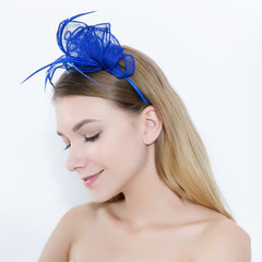 Womens Ladies Fascinator Hat with Headband Tea Party Derby Wedding Accessory