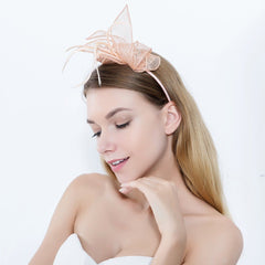 Women Light Sinamay Headband Fascinator Aliceband Wedding Cocktail
