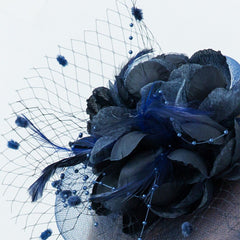 Wedding Navy Fascinator Hat Occasion Hats and Fascinators Tea Party Hat