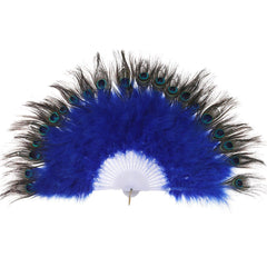 Roaring 20s Peacock Feather Fan Flapper Accessories