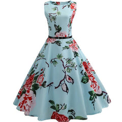 Vintage Cocktail Dress 1950s Casual Style Rockabilly Swing Dresses