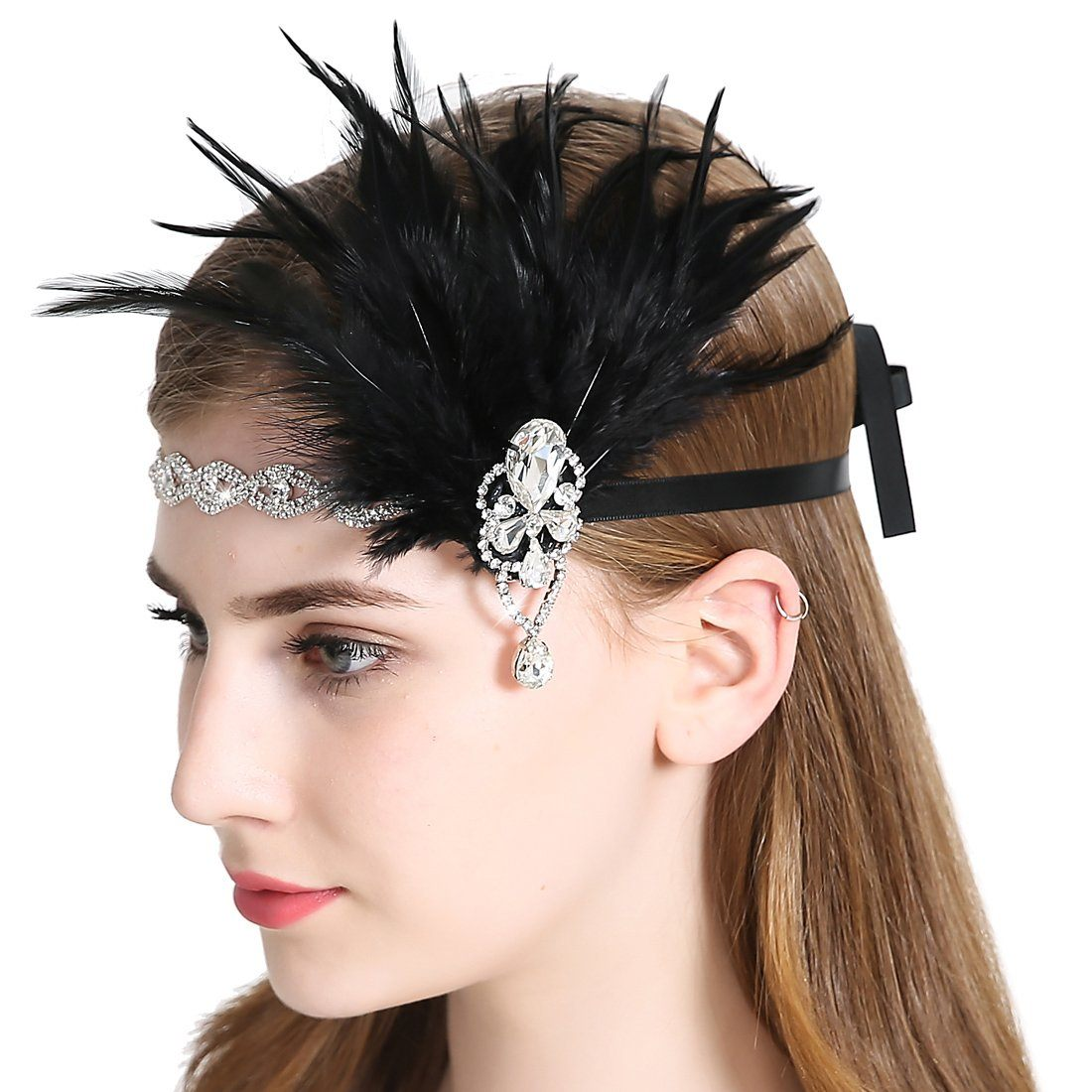 Vintage 1920s Flapper Headband Roaring 20s Great Gatsby Headpiece
