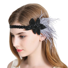 Vintage Flapper Headband 1920s Gatsby Headpiece