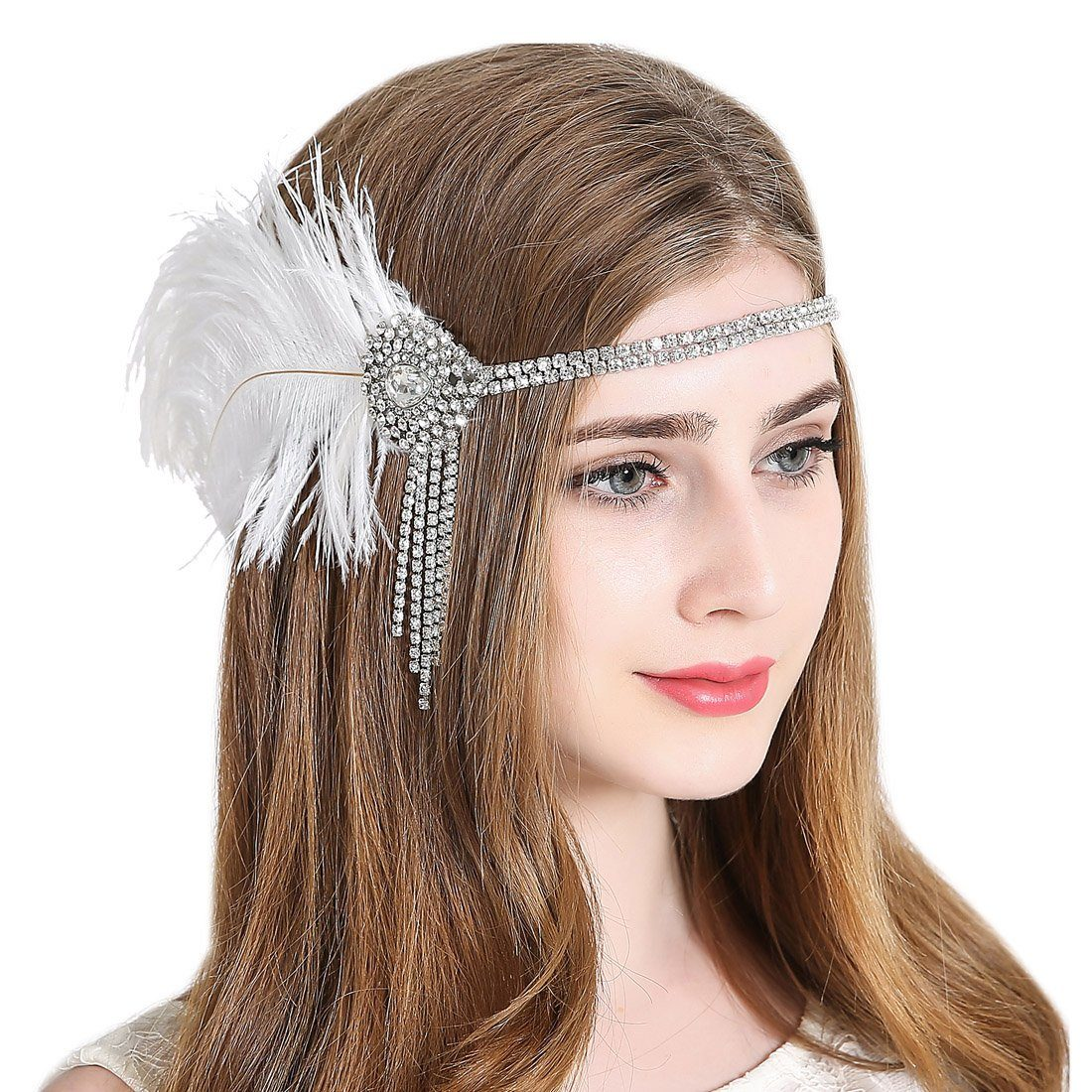 Vintage Flapper Headpiece 1920s Gatsby Fascinator Headband