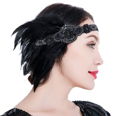 Vintage Headpiece 1920s Fascinator Headband Great Gatsby