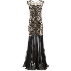 20s Great Gatsby Inspired Long Flapper Dress 1920s Themed Party