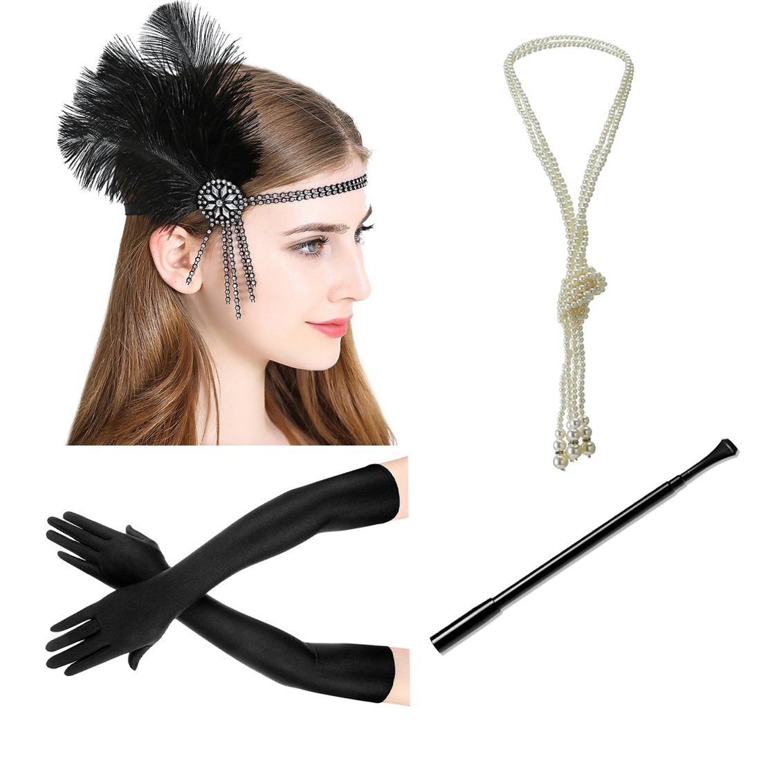 1920s Flapper Great Gatsby Accessories Set