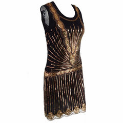 1920s Gatsby Style Dress Vintage Art Deco Sequin Inspired Great Gatsby