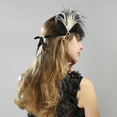 Fashion 1920s Gatsby Women Feather Hair Accessories Exquisite Flapper Headband